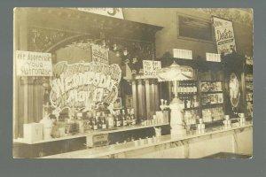 Rockwall TEXAS RP 1911 INTERIOR ICE CREAM PARLOR nr Dallas Plano SODA FOUNTAIN