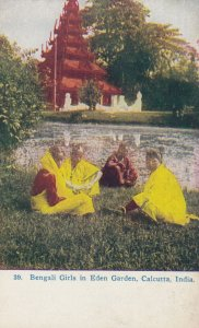 CALCUTTA , India , 00-10s ; Bengali Girls in Eden Garden