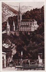 France Lourdes La Grotte et la Basilique 1937 Photo