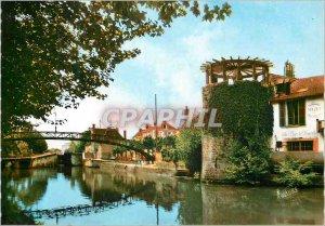 Old Postcard Montargis (Loiret) Orleanais the Tower Bridge and Canal Lock