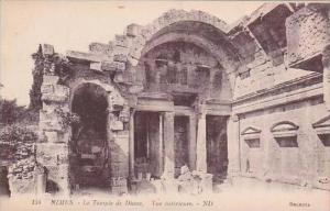 France Nimes Le Temple de Diane Vue interieure