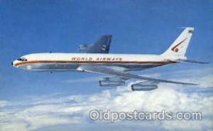 World Airways Boeing 707-320C Airplane, Airport Post Card, Post Card  World A...
