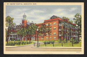 Saint Vincent Hospital Worcester MA used c1949
