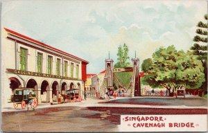 Singapore Cavenagh Bridge Postcard E69 *as is
