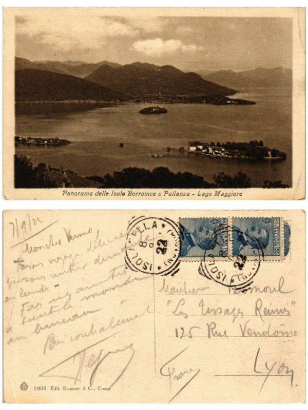 CPA Panorama delle Isole BORROMEE e Pallanza . ITALY (508498)