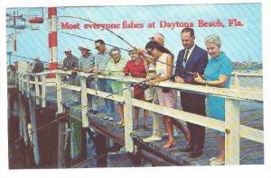 Pier Fishing, Daytona Beach, Florida, 40-60s