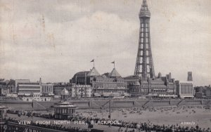 RP; BLACKPOOL, Lancashire, England, PU-1950; View From  North Pier