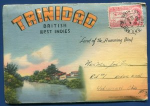 Trinidad British West Indies BWI Carnival Country Club linen Postcard Folder