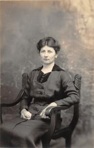 F36/ Jackson Ohio RPPC Postcard c1915 Ida Harper Woman Chair 10