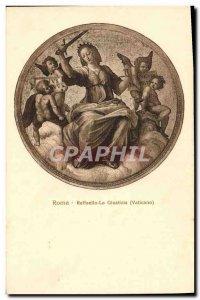Old Postcard Roma Raffaello La Giustizia Vaticano