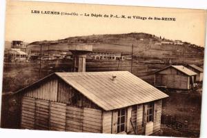 CPA LES LAUMES - Le Dépot du P.L.M. et Village de Ste-REINE (115742)