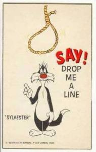 Slyvester  the Cat says  Drop me a Line,  60s