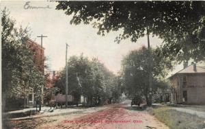 E14/ Frazeysburg Ohio Postcard c1910 West Secons Street Blizzard General Store