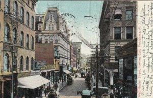 PROVIDENCE, Rhode Island, PU-1907;  Westminster Street, looking East
