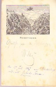 Germany - Rosstrappe Card 1887