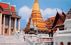 Inside Ground of Wat Phra Keo, Emerald Buddha Temple Bangkok Thailand Unused