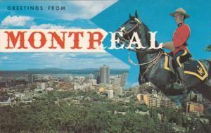 MONTREAL, Quebec, Canada, 1940-1960's; The Royal Canadian Mounted Police, Bus...