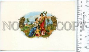500049 DIADEMA ANGEL Vintage embossed cigar box BIG label