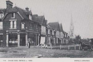 Chase Side Cheese + Tea Food Shop Enfield Post Victorian View Photo Postcard