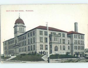 Unused Divided-Back HIGH SCHOOL Milwaukee Wisconsin WI k0183