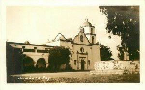 California Mission San Luis Rey Oceanside San Diego RPPC Photo Postcard 12247