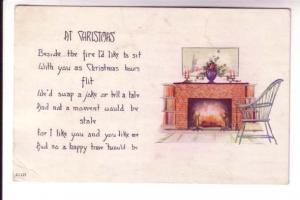 Chair Beside a Fireplace, At Christmas Poem