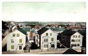 Rhode Island  Aerial view of Woonsocket looking East