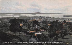 View of Auckland from Mt. Eden, New Zealand, Early Postcard, Unused