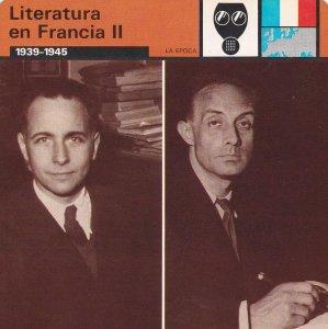 FICHA LA EPOCA: LITERATURA EN FRANCIA II. 1939-1945