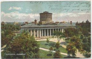 State Capitol Building Columbus Ohio 1907 Vintage Undivided Back Postcard