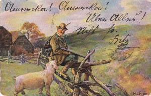 Hunter With Dog 1906