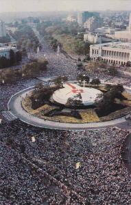 Over one million people surround pop John Paul II at Philadelphia's Logan Cir...