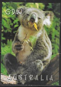 Australia Koala, unused, label on back