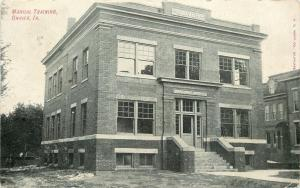 Onawa IA~Manual Training in Brick Oliver Building~7 Steps to Enter~1910 Postcard