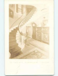 Faded Pre-1920 rppc THE BLACK HOUSE Ellsworth Maine ME HM3916