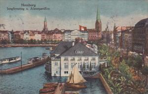 Germany Hamburg Jungfernstieg und Alsterpavillon 1919
