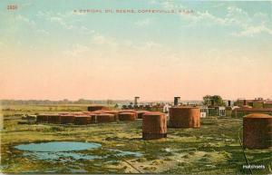 C-1910 COFFEYVILLE KANSAS Oil Scene tank farm KRESS Postcard 3905