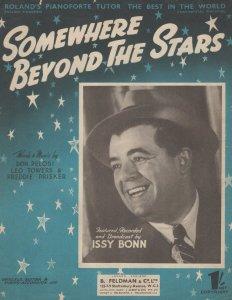 Somewhere Beyond The Stars Issy Bonn 1950s Sheet Music