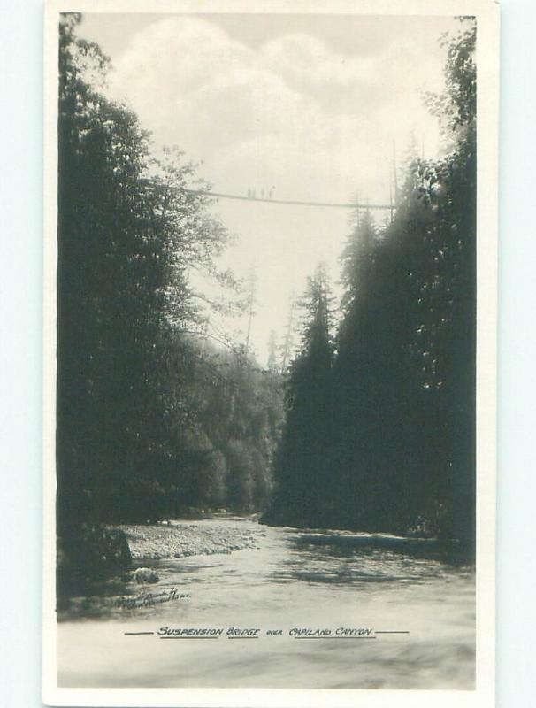 old rppc NICE VIEW Capilano - North Vancouver British Columbia BC W0904