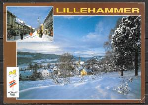 1994 Norway, Lillehammer, Olympics, mailed to USA