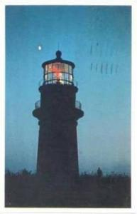 Gay Head LIGHTHOUSE at Dusk, Vineyard Haven, Massacusetts, PU-1983