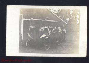 RPPC ANTIQUE MOTORCYCLE HARLEY DAVIDSON INDIAN VINTAGE REAL PHOTO POSTCARD