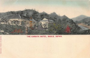 The Kanaya Hotel, Nikko, Japan, Early Hand Colored Postcard, Unused