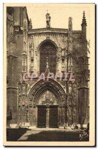 Old Postcard Aix en Provence Large door Goutique the Cathedrale Saint Sauveur