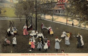 LPS52 Pittsburgh Pennsylvania Institution for Blind Children Playing Playground