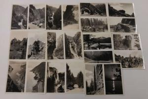 Yellowstone Park Shoshone Dam Cody Road Group of 11 Photos with Folder J65940