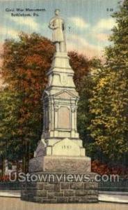 Civil War Monument Bethlehem PA Unused