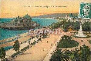 Postcard Old Nice's Promenade des Anglais and the Palais de la Jetee