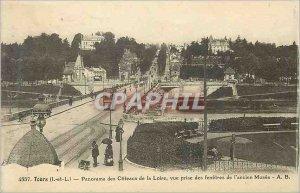 Postcard Old Tours (I and L) Panorama des Coteaux de la Loire shooting the wi...