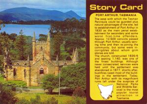 Postcard, Story Card, Port Arthur, Tasmania, Australia 12R